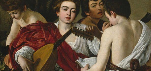 Caravaggio. 'Els músics', c. 1594-1595. Oli sobre llenç. The Metropolitan Museum, Nova York, Rogers Fund © 2015