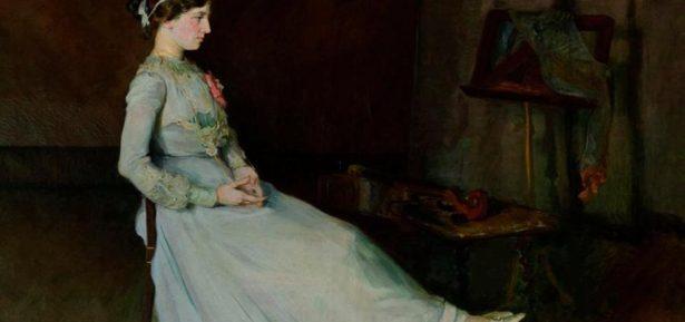 Detall de 'La violoncel·lista descansant', de Lluïsa Vidal, 1909. Museu Vil·la Casals. Sant Salvador del Vendrell